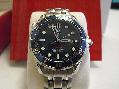 Omega Seamaster Professional Large Bond 2221.80 Swiss Quartz Luxury Men's Watch
