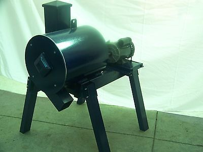 "MINING ROCK/GLASS CRUSHER, 27 HAMMERS 16"" X 18"" DRUM  ELECTRIC MOTOR  w/legs"