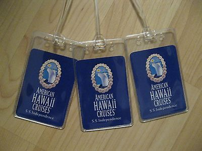 American Hawaii Cruises Luggage Tags   Ss Independence Playing Card Name Tag  3
