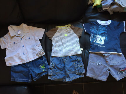 3 x boys outfits summer shorts size 00 / 3-6 months Greenwith Tea Tree Gully Area Preview