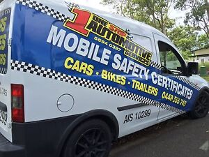 MOBILE SAFETY CERTIFICATES ONE STOP AUTOMOTIVE!!! $88 Ormeau Gold Coast North Preview