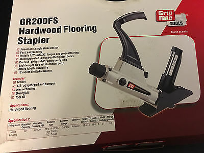 New Grip Rite 1.5-2 15-15.5 Gauge Hardwood Flooring Stapler Gr200fs