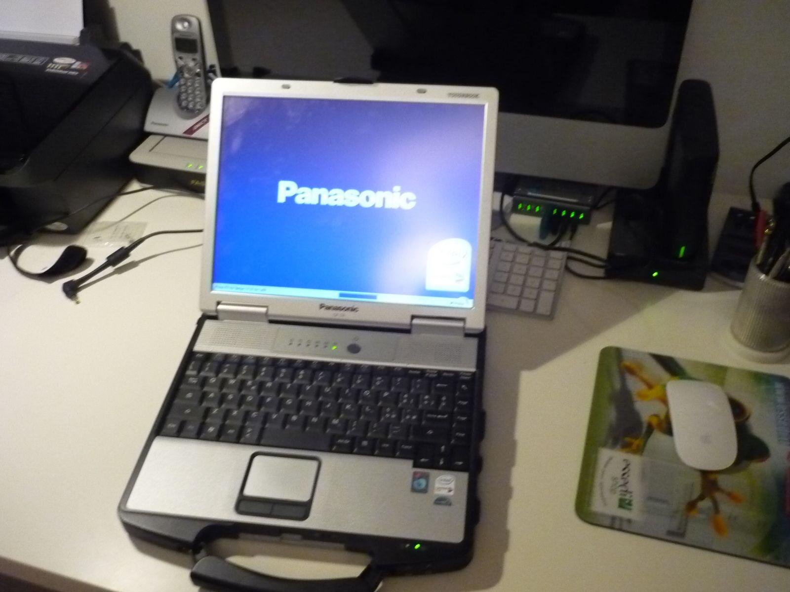 Panasonic Toughbook Cf-74 2.0ghz C2D 4gb 1tb Win XP Wifi TOUCHSCREEN Serial Port