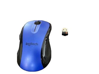 Logitech M510 Wireless Large Mouse Blue With Unifying Receiver (Excellent)