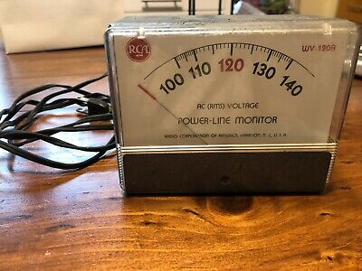Vintage Rca Model Wv-120a Power Line Monitor Ac Rms Voltage