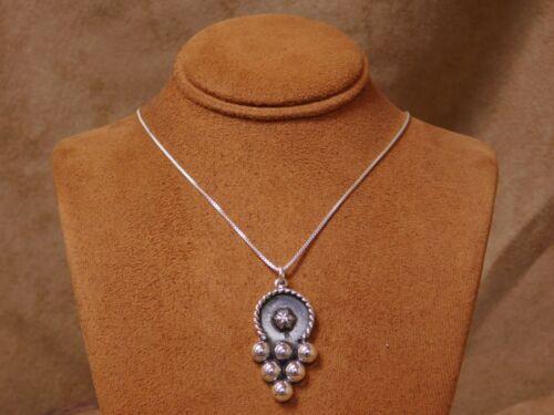 Vintage Sterling Silver Ornate Necklace
