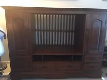 Timber tv cabinet Merrimac Gold Coast City Preview