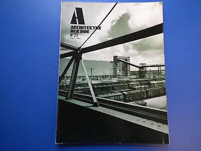 DDR Zeitschrift-Architektur der DDR Heft -8/1977-Zwickau-Mittweida-Wohnungsbau-