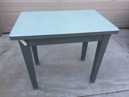 Vintage Industrial Steel Mini Tanker Desk Table Mid Century Era Steelcase Style