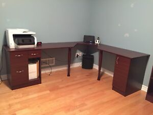 Office set. Desk + 2 book shelves in excellent condition.