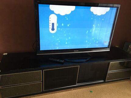 TV cabinet - black timber