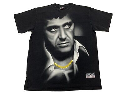 Vintage 90s Scarface T-Shirt Graphic Tee Licensed Tony Montana Gagster Men XL