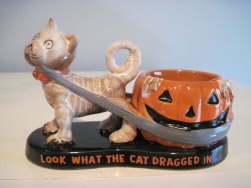 YANKEE CANDLE BONEY BUNCH LOOK WHAT THE CAT DRAGGED IN TEA LIGHT HOLDER