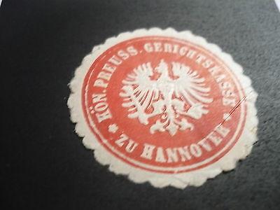 Siegelmarke Königl. Preuss. Gerichtskasse zu Hannover