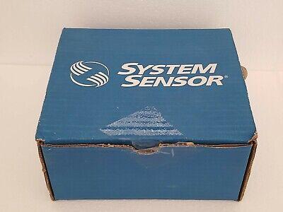 System Sensor Scrl Ceiling Horn Strobe Fire Alarm Red Body Nib