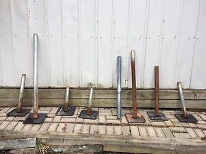 STATIONARY DOCK MUD PADS + DOCK LEG PIPES