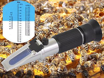 Refraktometer Honig Imker Wasser Zucker Gehalt, Brix: 58-90% Wasser: 10-33%