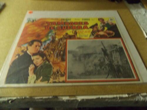 DRUMS ALONG THE MOHAWK(1939)HENRY FONDA ORIGINAL MEXICAN LOBBY CARD NICE!