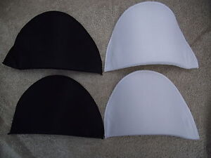 1 Pair Shoulder Pads - Black or White - Small/Medium/Large