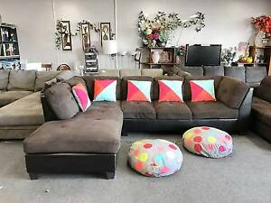 TODAY DELIVERY MODERN BROWN CHOCOLATE L SHAPED sofa SALE NOW Belmont Belmont Area Preview