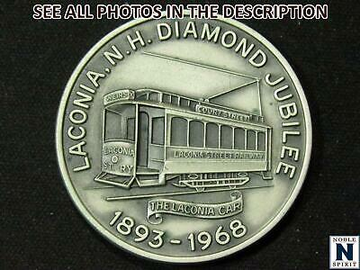 NobleSpirit No Reserve 1968 Laconia NH Diamond Jubilee Sterling Silver Medal