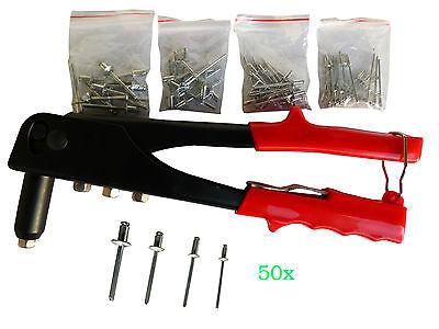 Hand Nietzange inkl.50 blindnieten 2,4; 3,2; 4,0;4,8mm Blindnietzange nietzange