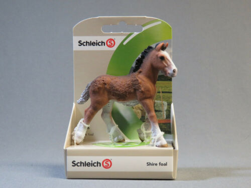 Schleich Shire Foal horse 13736 Retired NEW ol