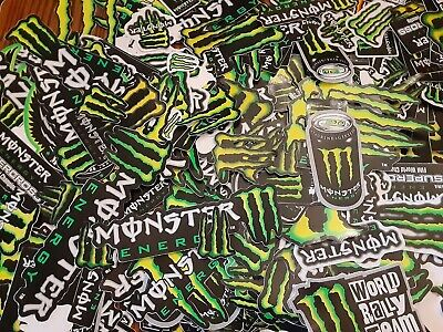 Lot Set of 10 Monster Energy Drink Stickers Racing Decals Motorcycle Motocross