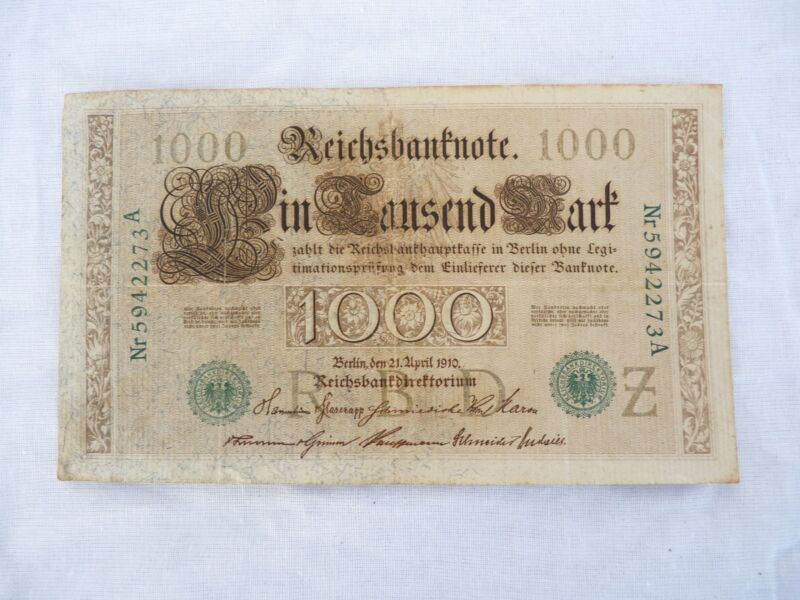 1000 German Marks from 1910