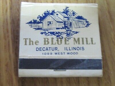 VTG SLIGHTLY USED MATCHBOOK MATCHES THE BLUE MILL DECATUR IL