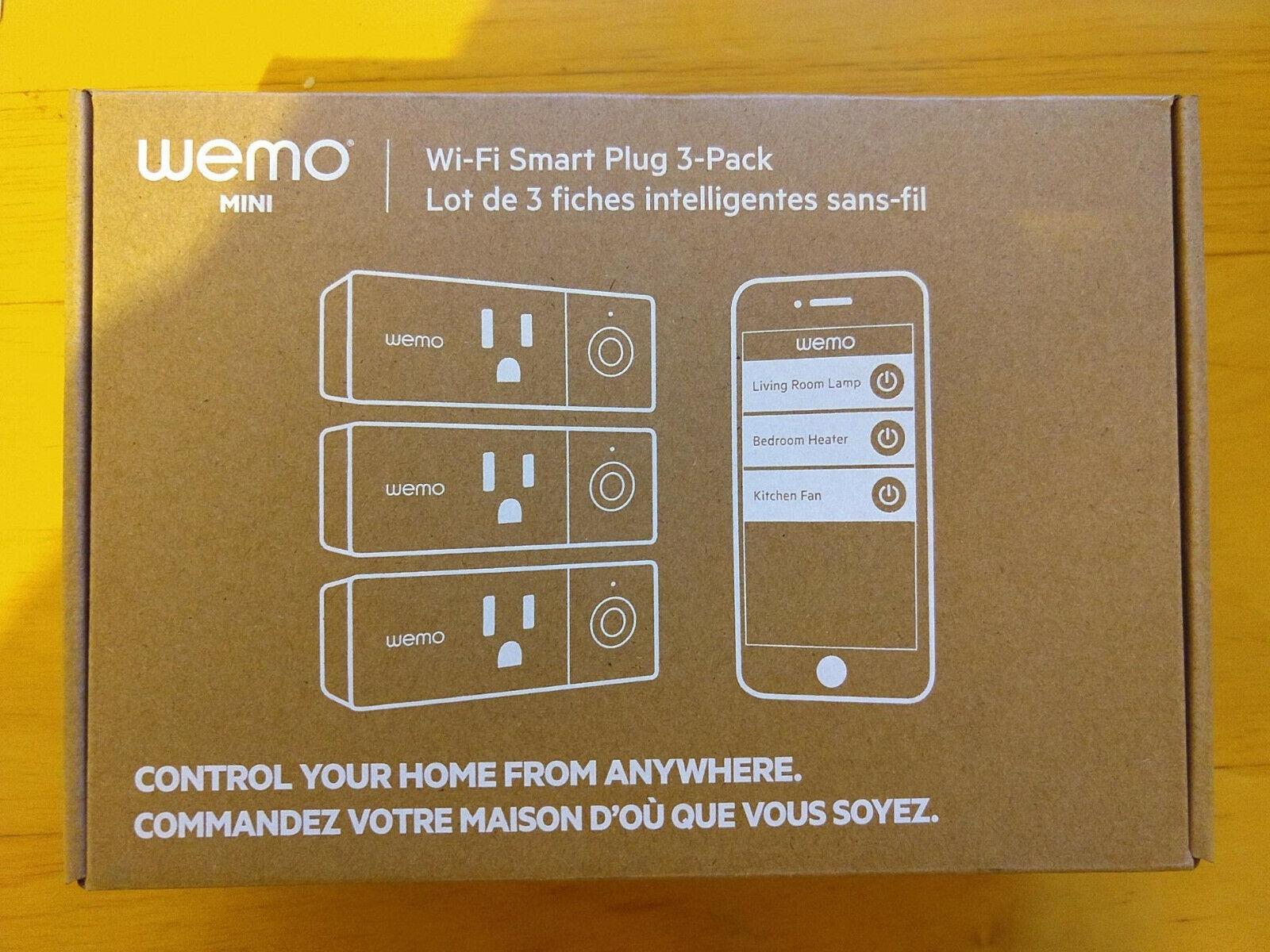 **NEW ** WeMo F7C063-BDL Wi-Fi Smart Plug Bundle