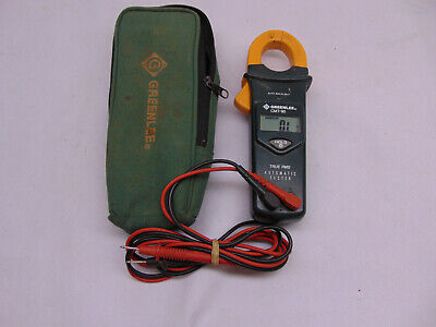 Greenlee Cmt-90 Clamp-on Meter True Rms Automatic Tester - Free Shipping 45