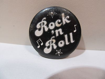 Vintage Rock N Roll Pin Back Button Original Hippie Beatnik