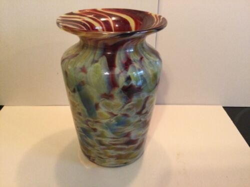 SIGNED MARANO GLASS VASE -