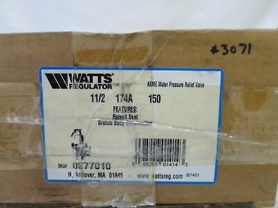Nib Watts Regulator 0277010 1 12 174a Set 150 Lbs. Water Pressure Relief Valve