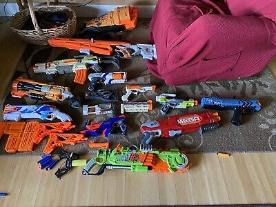 Nerf Gun Lot Nerf Guns And Accessories