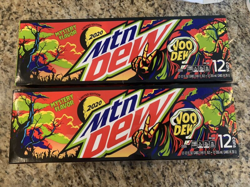 Mountain Dew VooDew Single 12oz Can Limited Edition 2020 Mystery Flavor