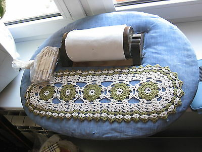 Vintage Bobbin lace making pillow box with 19 bobbins for sale  Shipping to Canada