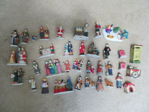 LEMAX Ceramic Figurines Vintage Village Collection Christmas Holiday 35 Pieces