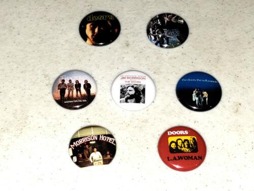 "The Doors Button 7 1"" Buttons Pin Pins Badge Jim Morrison Hotel La Woman - LOT A"