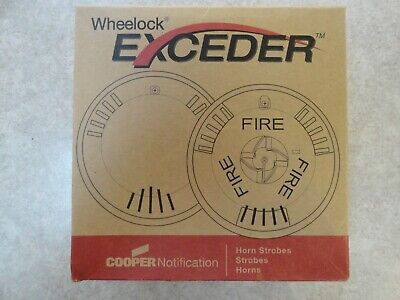 New Cooper Wheelock Exceder 127459 Hsrc Horn Strobe Red Ceiling Mount Fire
