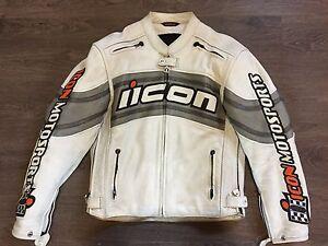 Manteau de moto en cuir Icon