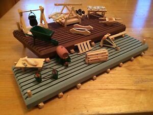 Handmade Stage and Wharf models