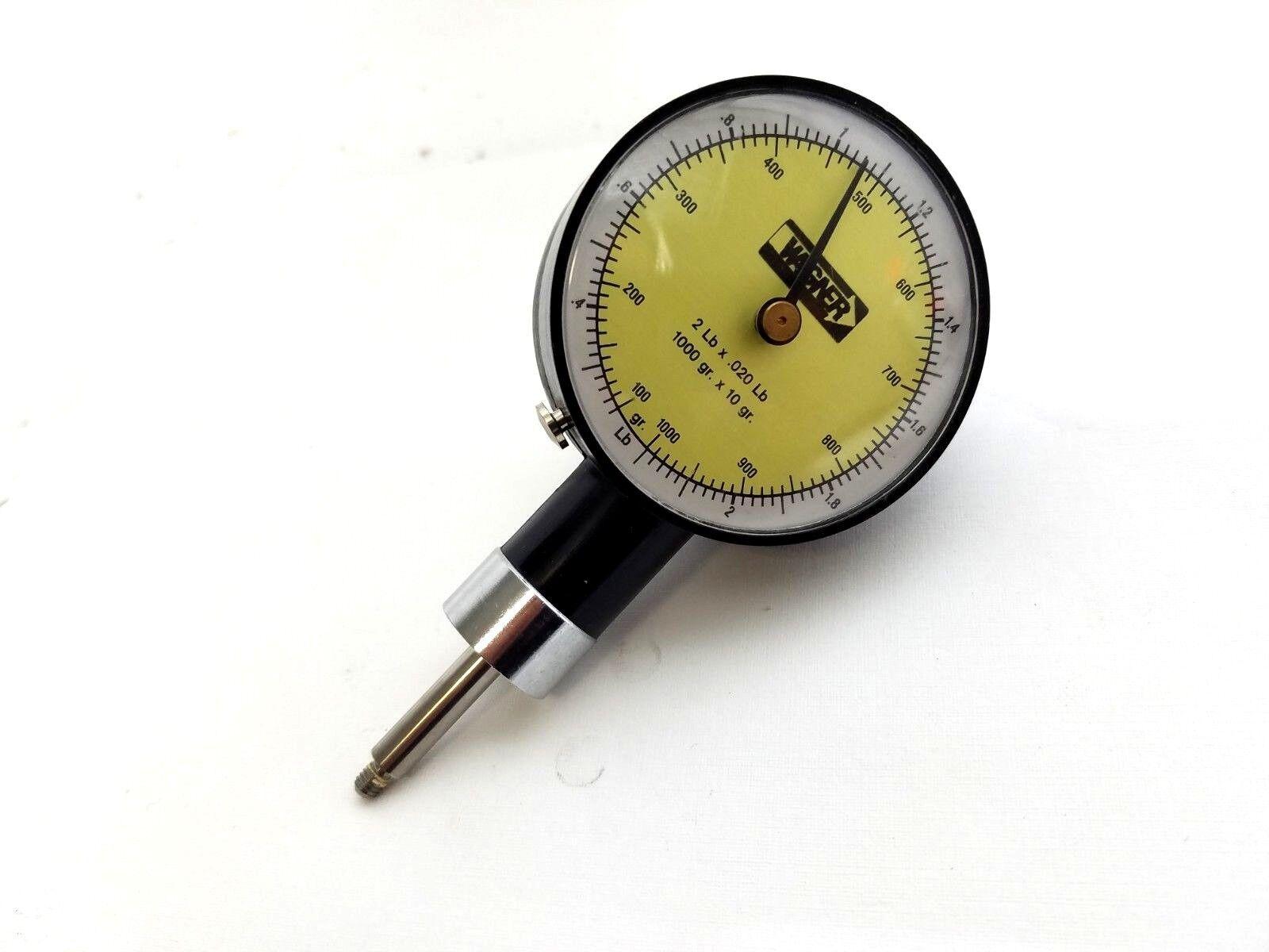 Wagner FT02 Fruit Pressure Tester Penetrometer 2 Lb x.020 Lb 1000gr x 10gr