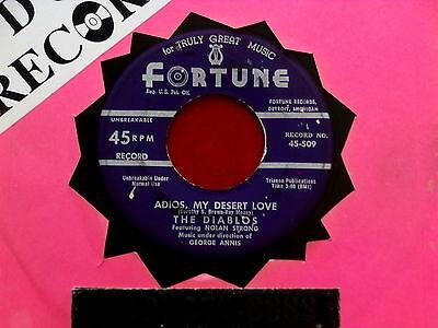 DIABLOS~ ADIOS MY DESERT LOVE~ VG+~AN OLD FASHIONED GIRL~ FORTUNE ~ DOO WOP 45