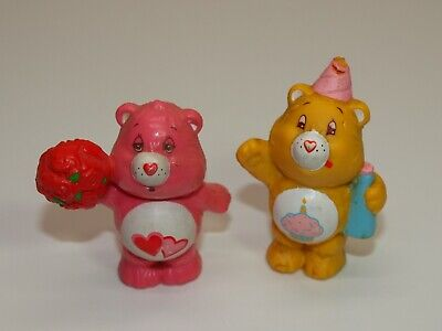 Vintage American Greetings AGC Care Bears Lot  2 PVC Figures Love-a-Lot Birthday