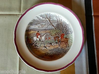 Vintage  COPELAND SPODE THROWING OFF FOX HUNTING PLATE ENGLAND