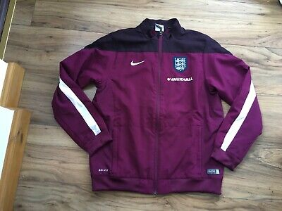 Nike England Football Zip Up Training Jacket 2014/2015 Burgundy Youth Size 12-13