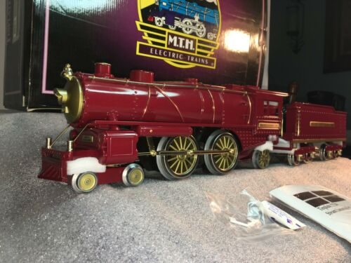 MTH IVES STD. GAUGE 10-1143-1 IVES RED 4-4-2 Steam &W/ ProtoS-2.0 SLIGHTLY RUN