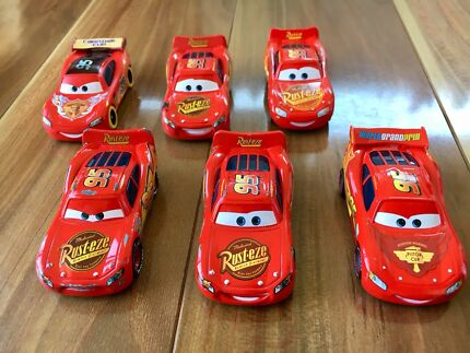 Disney Cars toys die cast Lightning McQueen collection 6 pack